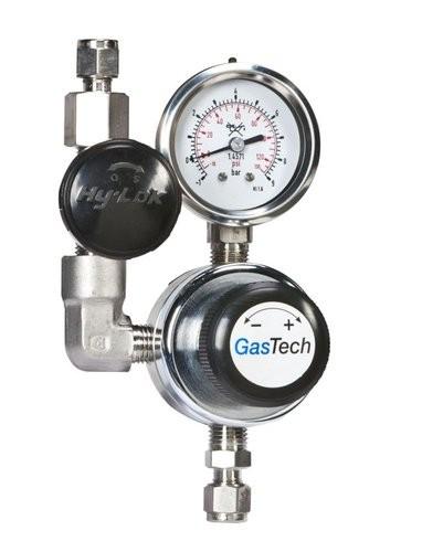 Entnahmestelle, O2, GasTech ENS, Edelstahl, pe 40 bar, pa 0-15,0 bar