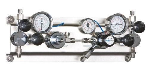 Entspannungsstation autom. Gase brennbar/giftig/korr. 12+/-2 bar, VA, Fremdgasspülung