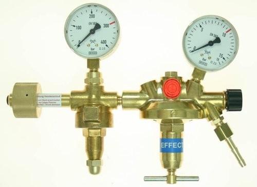 Flaschendruckminderer CO2/Argon 0-10 bar Vulkan F10/2 300 Effect