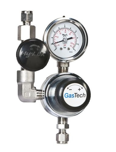 Entnahmestelle, O2, GasTech ENS, Edelstahl, pe 40 bar, pa 0-1,5 bar