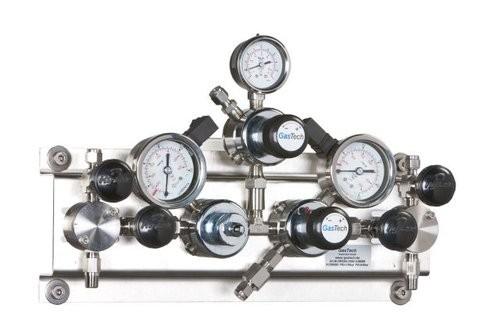 Entspannungsstation autom. GasTech DRSAH, Gase/n.brennbar/giftig/korr. 0-7,0 bar, VA