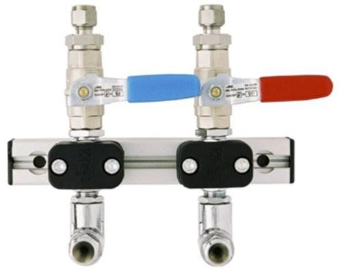 Entnahmestellen-Konsole Vulkan Alu-Line 3/8 LabLine Acetylen/Brenngase