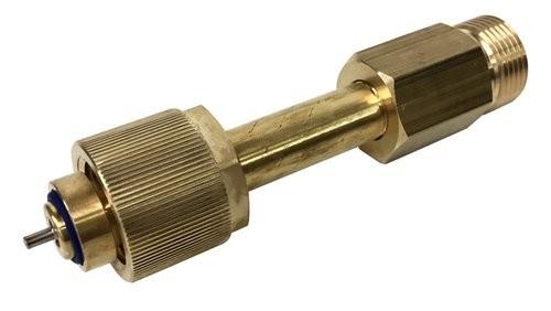 Adapter für Restdruckventil, für Sauerstoff, DIN 477-1 Nr. 9, Messing